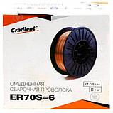 Зварювальний дріт ER70S-6 d=1,2 мм на 5кг, фото 2