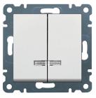 Выключатель с подсветкой 2-клавишный Lumina-2 белый
