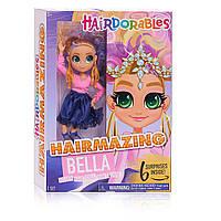 Новинка! Велика Лялька Хэрдораблс Белла 26 см Оригінал Hairdorables Hairmazing Bella Fashion Doll