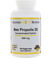 California Gold Nutrition Прополис 2X концентрированный экстракт 500 мг 240 растительных капсул