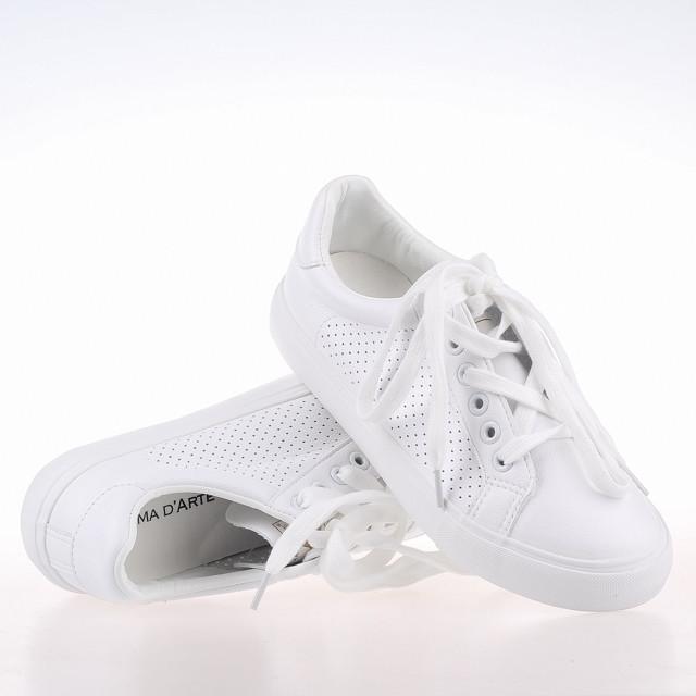 Белые Женские кеды на платформе PRIMA D`ARTE M-101 WHITE KOGA весна 2020