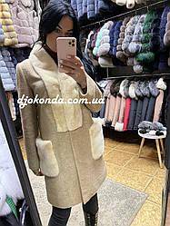 Пальто натуральное с мехом норки