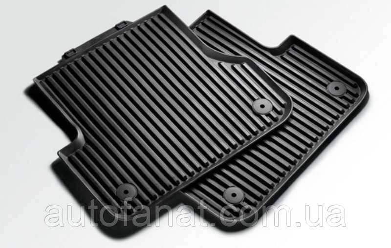 Оригінальні задні килимки в салон Audi A8 (D4) гумові (не Long) (4H0061511041)