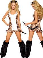Женский карнавальный костюм Тигрицы L8448