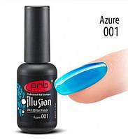 Гель-лак витражный PNB  Illusion Azure № 001, 8 мл