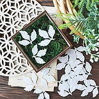 Вырубка Набор Весенние листики белые