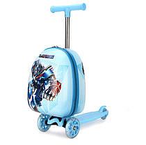 Супер самокат с чемоданом, принт  Трансформер, фото 2