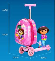 Супер самокат с чемоданом,  принт  Frozen Ельза, фото 3