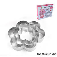 Форма для выпечки тортов 3 штуки(цветок)