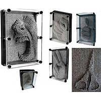 Сyвeнир Пин арт Гвоздики 3D, экспресс-скульптор Гвозди, ART-PIN  Размер 17,5×12,5×3,3