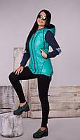 Модная женская жилетка на синтепоне, фото 1