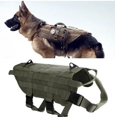 """Шлея-тактичний жилет з системою """"Molle"""" для собак , 4 розміри"""