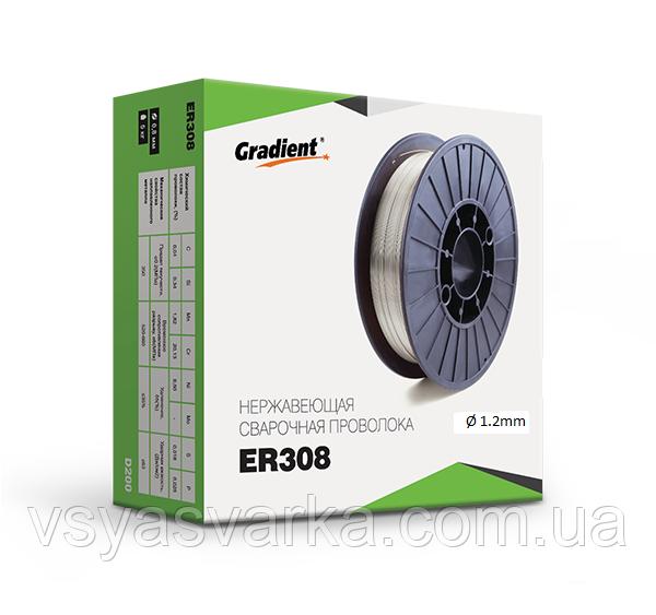 Проволока сварочная нержавеющая ER 308/308L 1.2 мм. 15кг
