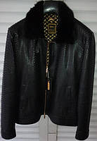Куртка ZILLI из кожи питона черная