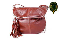 (Sissone) Итальянская кожаная сумочка MIK0-L04 коричневый