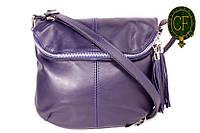 (Sissone) Итальянская кожаная сумочка MIK0-L08 синий