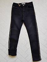 Чёрные Джинсы утеплённые на флисе для девочек ,размеры 134-164 см.Фирма GRACE .Венгрия, фото 1