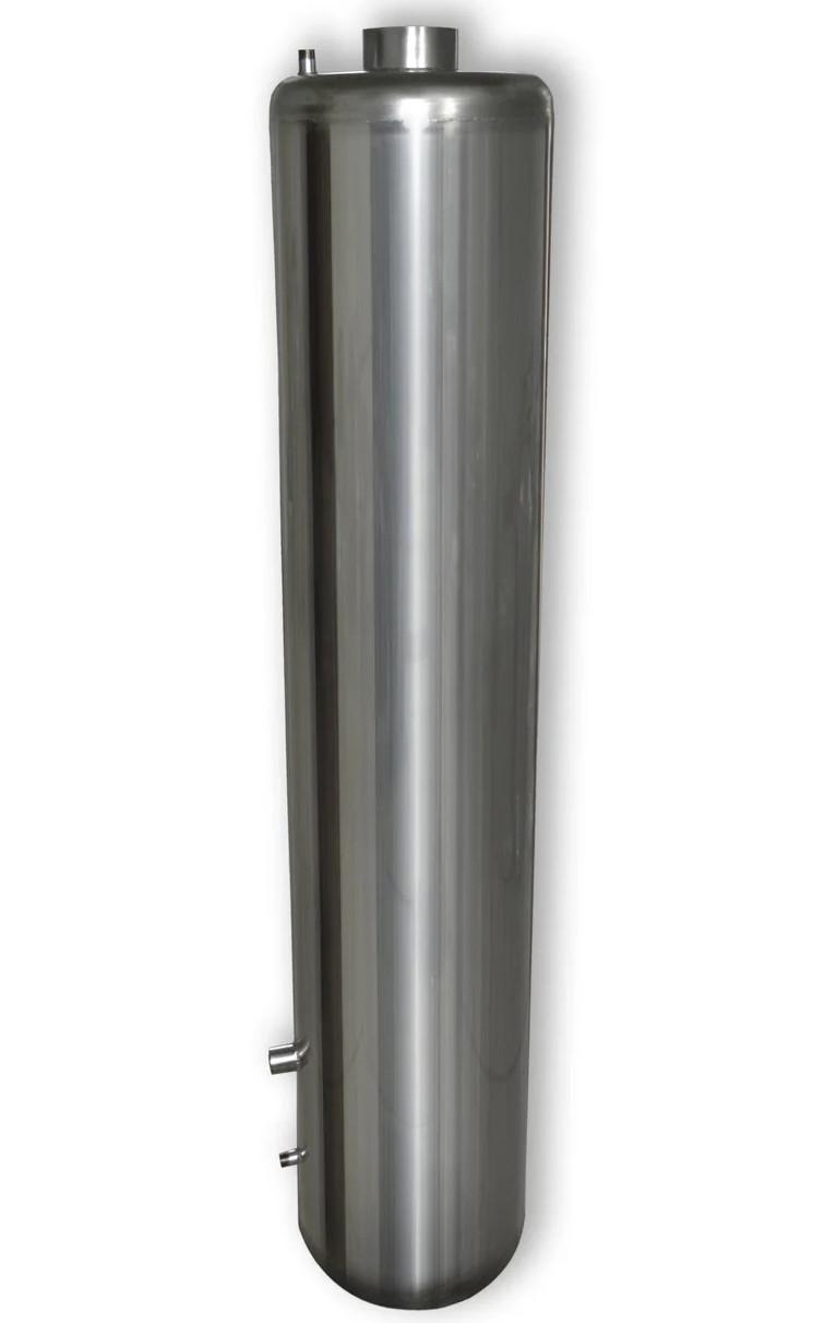 Титан водогрейный из нержавейки 90 л (водогрейная колонка, бойлер-буржуйка, водонагреватель на дровах)