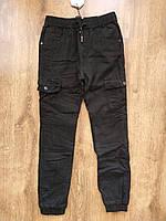УТЕПЛЁННЫЕ, Котоновые брюки Джоггеры на флисе с накладными карманами для мальчиков 140-146 см.Grace .Венгрия