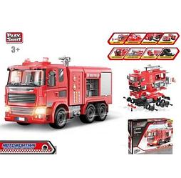 Машинка конструктор Play Smart 1396 Автомонтаж Пожарная машина 99 деталей