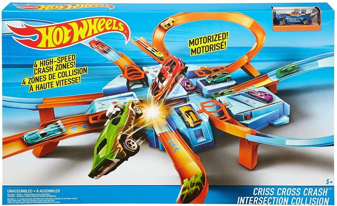 Трек Хот Вилс Перекрестное столкновение Крис Крос Восьмерка Hot Wheels Criss Cross Crash