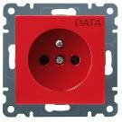 Розетка DATA с центральным з/к Lumina-2 красная