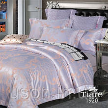 Комплект  постельного белья сатин жаккард Тиара евро размер 1920
