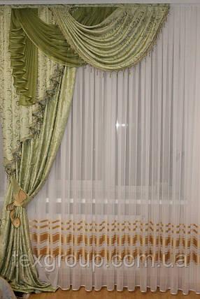 Ламбрекен со шторой и стеклярусом №185 , фото 2