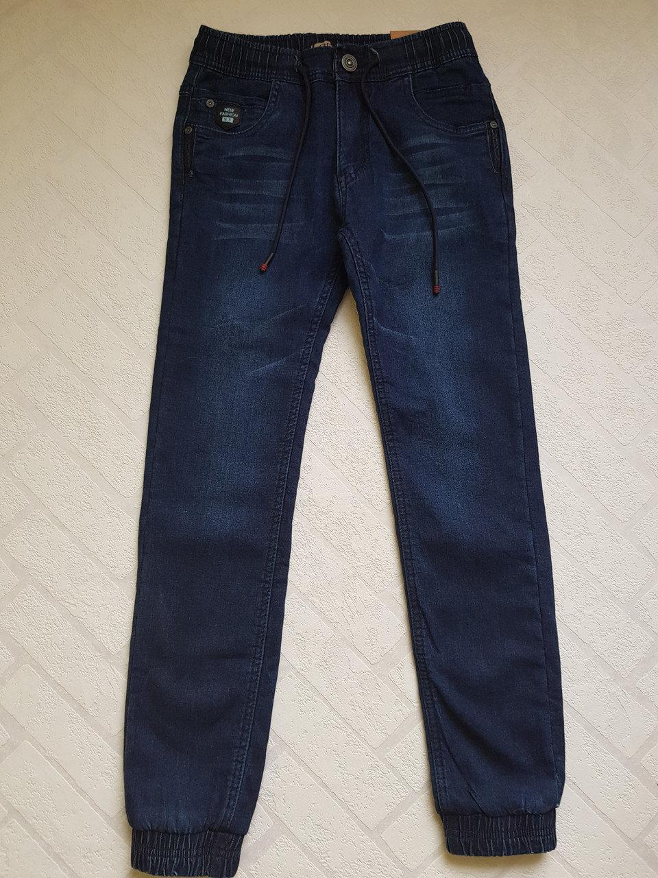 Утеплённые,ДЖИНСОВЫЕ брюки ДЖОГГЕРЫ для мальчиков ,.Размеры 134-164 см см.Фирма GRACE.Венгрия
