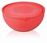 Салатница пластиковая круглая с крышкой 2500мл Ucsan Frosted Bowl