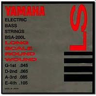 Комплект струн для 4-струнной бас-гитары YAMAHA BSA200L BASS STAINLESS STEEL (45-105) Струны для бас-гитары