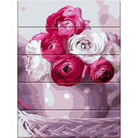 Картина по номерам на дереве Букет из роз, 30x40 см., Art Story