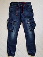 Джинсовые брюки ЯСТРЕБ с накладными карманами, для мальчиков.Размеры 6-16.Фирма S&D. Венгрия, фото 1