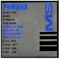 Комплект струн для 4-струнной бас-гитары YAMAHA BSA200M BASS STAINLESS STEEL (48-106) Струны для бас-гитары