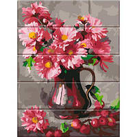 Картина по номерам на дереве Хризантемы, 30x40 см., Art Story