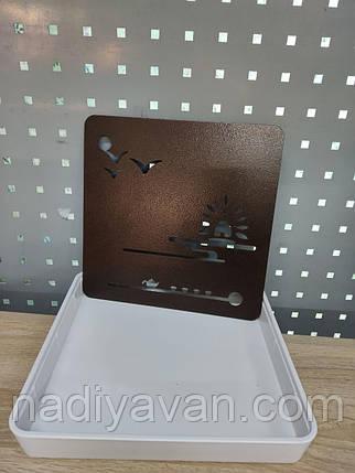 Поднос для чайной церемонии квадратный - чабань с металлической решеткой, фото 2
