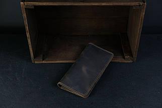 Кошелек клатч Лонг на 4 карты Винтажная кожа цвет Шоколад, фото 2