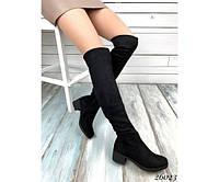 Ботфорты - сапоги на низком каблуке, фото 1