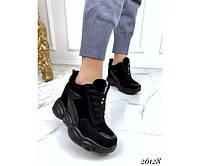 Сникерсы женские на шнуровке, фото 1