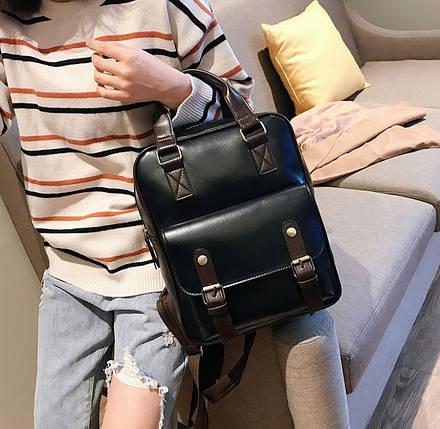 Стильная сумка-рюкзак ранец трансформер, фото 2