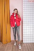 Куртка жіноча червона, біла, чорна, гірчиця