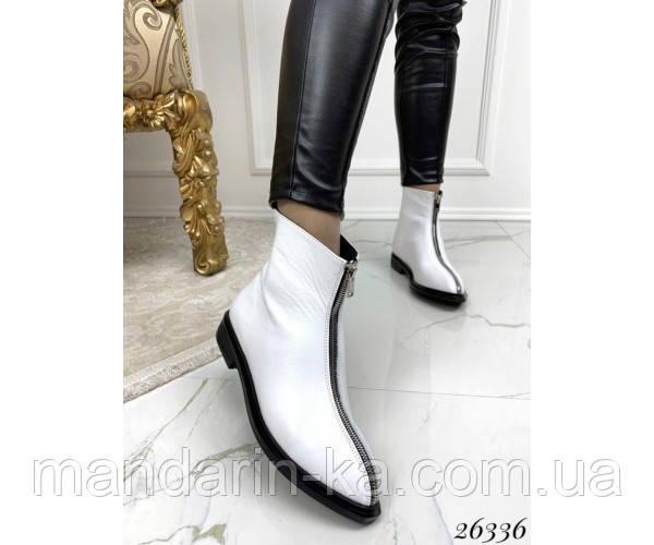 Женские ботинки молния спереди