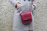 Яркая женская сумка через плечо, маленькая кожаная сумочка, тисненая кожа, ручная работа, фото 1