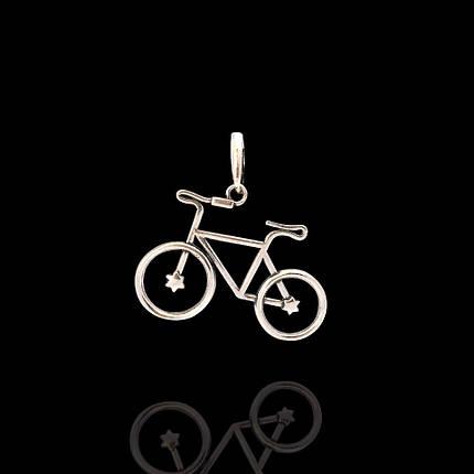 Серебряная подвеска Велосипед, фото 2