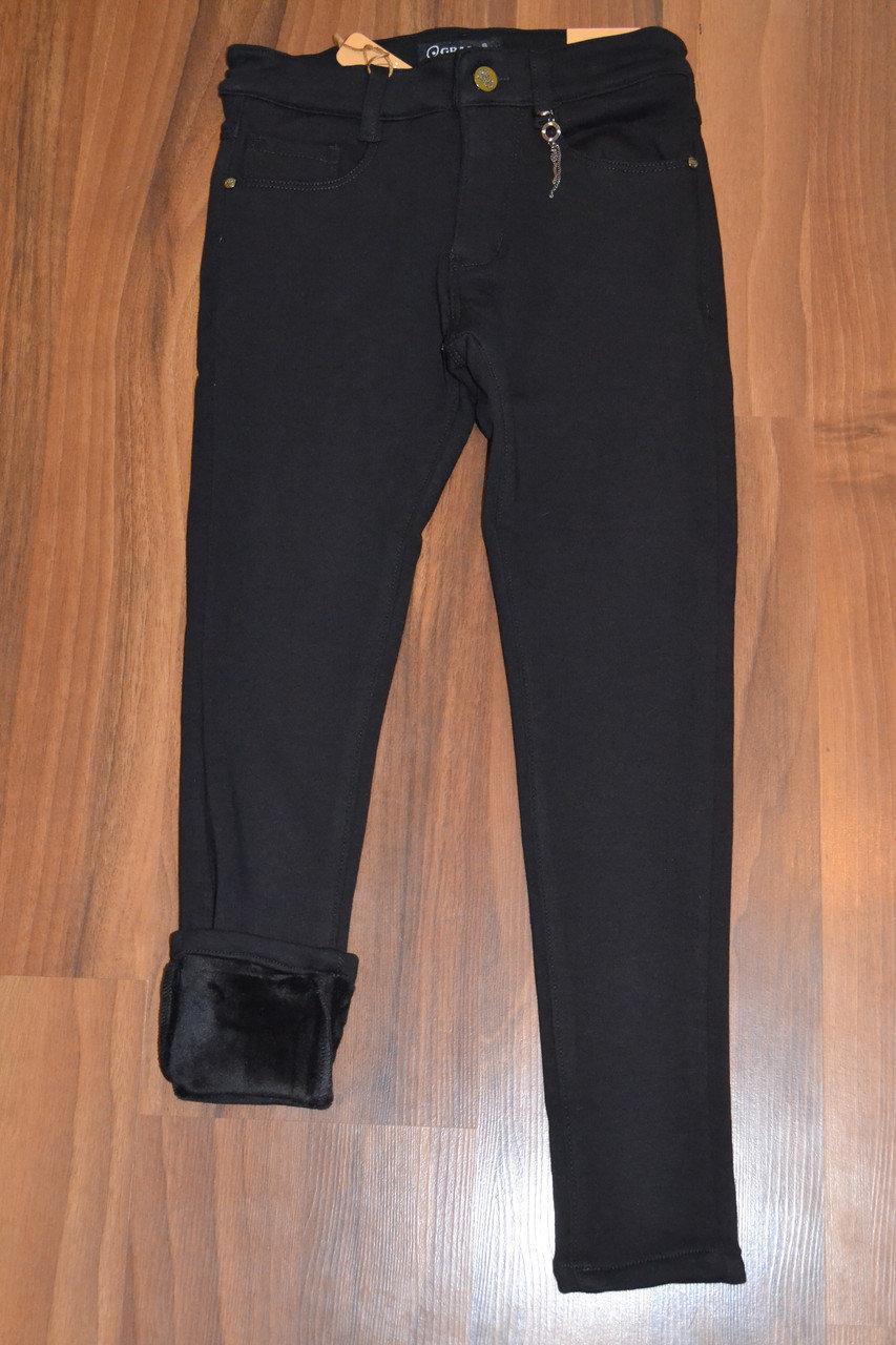 Утеплённые,чёрные, стрейчевые брючки-СКИННИ для девочек.Размеры 164 см .Фирма GRACE.Венгрия