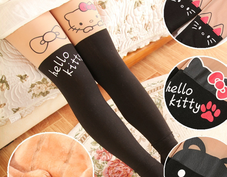 Лосины для девочки на меху Hello Kitty рост 105-120