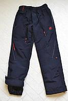 Плащёвочные,утеплённые термо-штаны на флисе для мальчиков,размеры 134- см.Фирма Grace.Венгрия, фото 1
