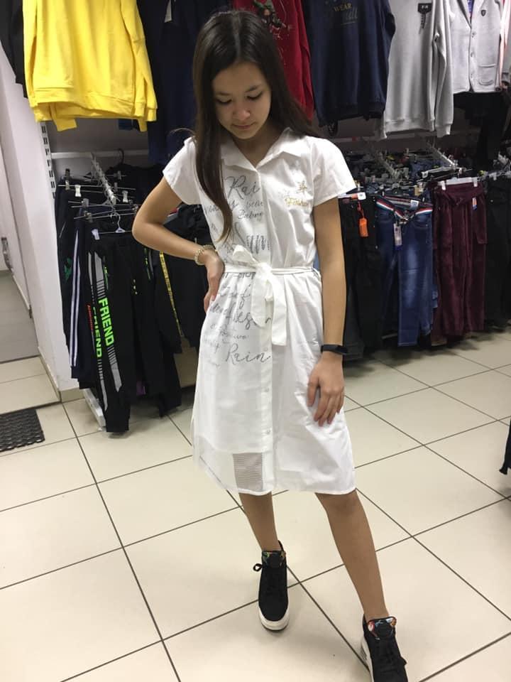 Легкое хлопковое платье для девочек 158-164 рост