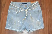 Джинсовые шортики для девочек, размеры 134-164 см, фирма GRACE, Венгрия