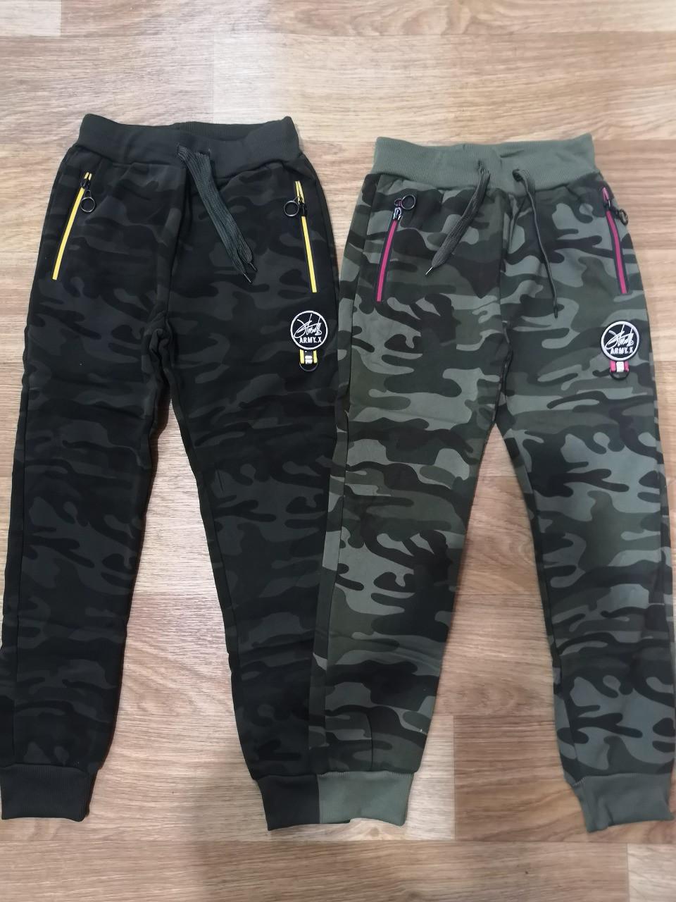 Cпортивные камуфляжные брюки для мальчиков с начесом Sincere 140  p.p.